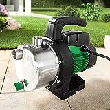 POWERTEC Garden Edelstahl Gartenpumpe 1100W Wasserpumpe Pumpe 4,6 bar Bewässern