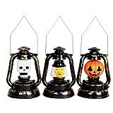 Kreative Halloween Led Petroleumlampen Handheld Retro Laternenlicht Dekorative Urlaub Tischlampe Betrieben Halloween Led-Leuchten Tragbare Laterne Schreibtischlampe