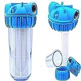 Basal Vorfilter 1'' - 5000 L/h fr Garten Pumpen/Hauswasserwerke / Schmutz Filter/Sandfilter / Plus Wandhalterung und Filterschlssel