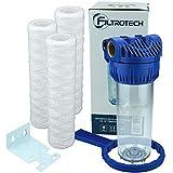Wasserfilter 10 Zoll Anschluss 1' Nachfilter Vorfilter für Hauswasserwerk GartenPumpe Wasserleitung