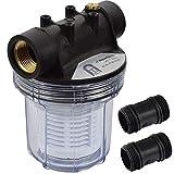 Agora-Tec® at-Wasserfilter 1L, mit Max. Betriebsdruck: 4 bar, Max. Durchflussmenge: 3000 l/h, Maschenweite Filtersieb: 0,2 mm, Anschlüsse: 1 Zoll (30,3 mm) IG Messingbuchsen